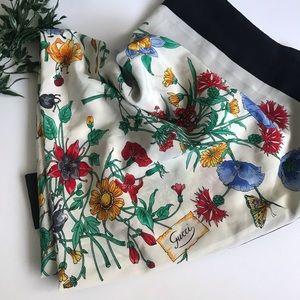 Vintage Gucci Silk Floral Scarf